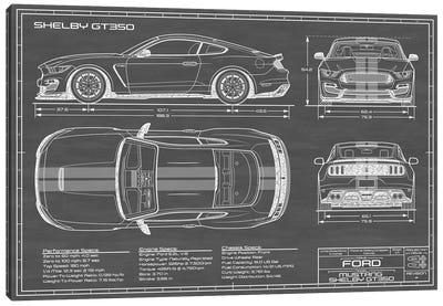 Shelby GT350 (2015-2019) Black Canvas Art Print