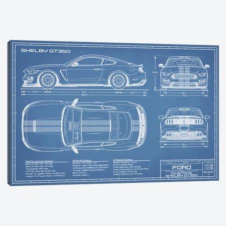 Shelby GT350 (2015-2019) Blueprint Canvas Print #ABP58} by Action Blueprints Canvas Art Print