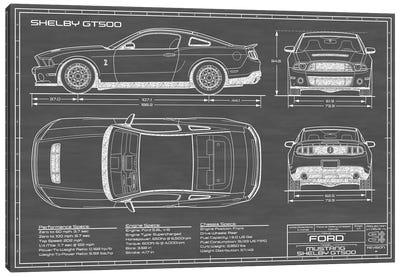Shelby GT500 (2013-2014) Black Canvas Art Print
