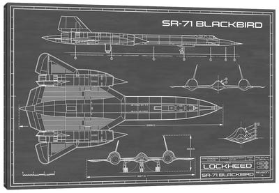 SR-71 Blackbird Spy Plane | Black Canvas Art Print