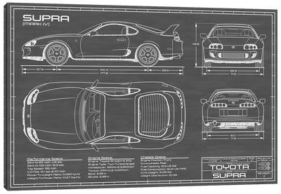 Toyota Supra MKIV | Black Canvas Art Print