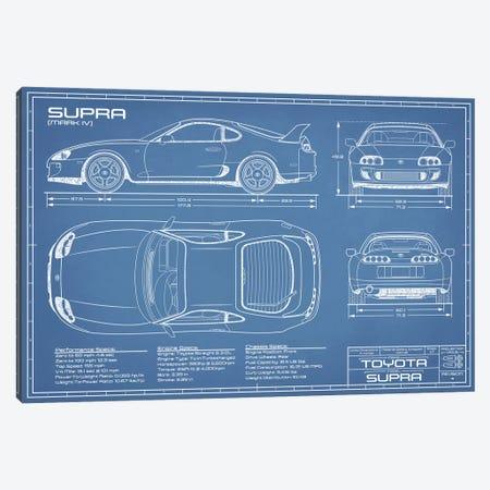 Toyota Supra MKIV Blueprint Canvas Print #ABP70} by Action Blueprints Art Print