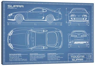 Toyota Supra MKIV Blueprint Canvas Art Print
