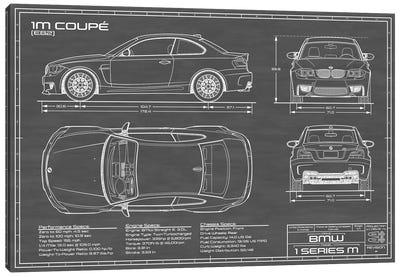 BMW 1M Coupe (F82) | Black Canvas Art Print