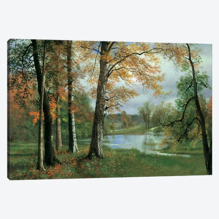 A Quiet Pond Canvas Print #ABS1} by Albert Bierstadt Canvas Art