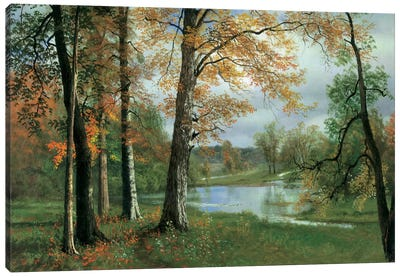 A Quiet Pond Canvas Art Print