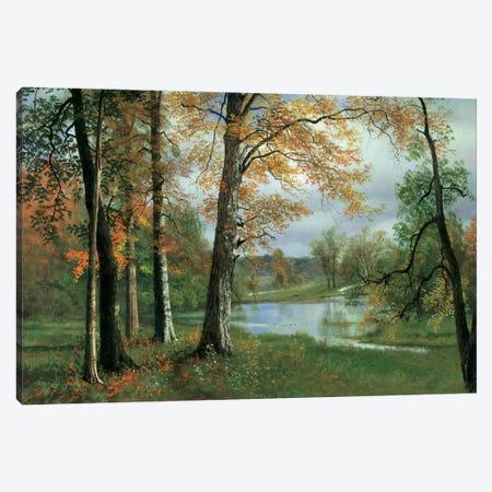 A Quiet Pond Canvas Print #ABS1} by Albert Bierstadt Canvas Art