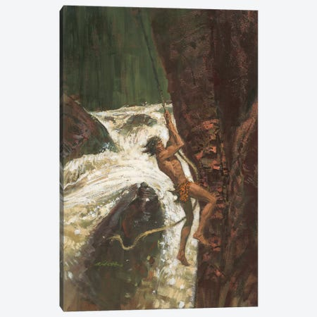 Tarzan The Terrible Canvas Print #ABT4} by Robert Abbett Canvas Art