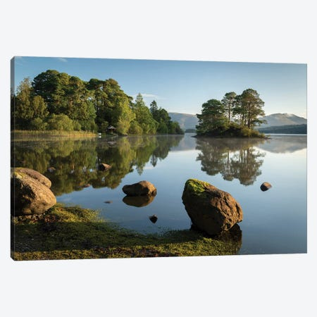 Reflections Of Derwentwater Canvas Print #ABU102} by Adam Burton Canvas Art
