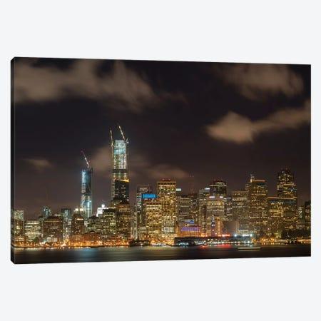 San Francisco Night Cityscape Canvas Print #ABU103} by Adam Burton Canvas Wall Art