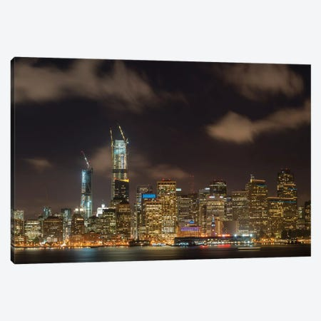 San Francisco Night Cityscape Canvas Print #ABU103} by Adam Burton Canvas Wall Art