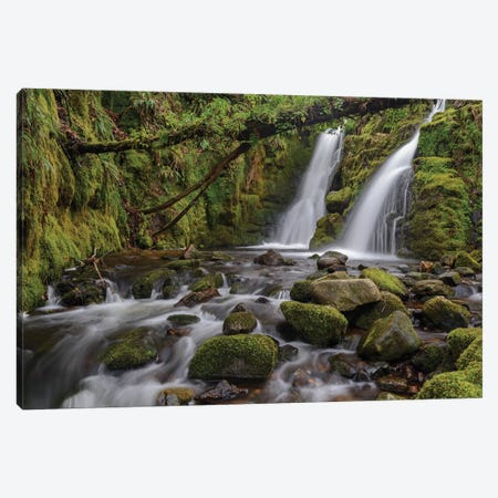 Secret Waterfall Canvas Print #ABU104} by Adam Burton Canvas Print