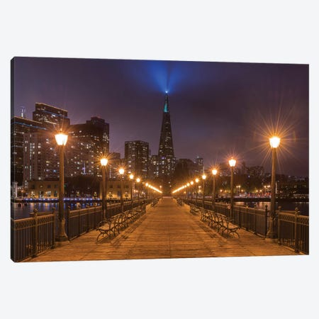 Transamerica Pyramid From Pier 7 Canvas Print #ABU112} by Adam Burton Canvas Print
