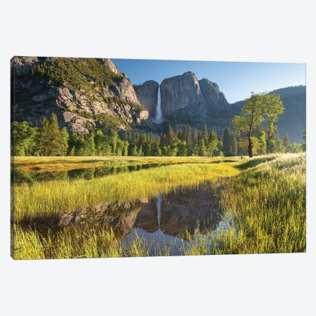 Yosemite Meadow & Falls Canvas Print #ABU121} by Adam Burton Canvas Art