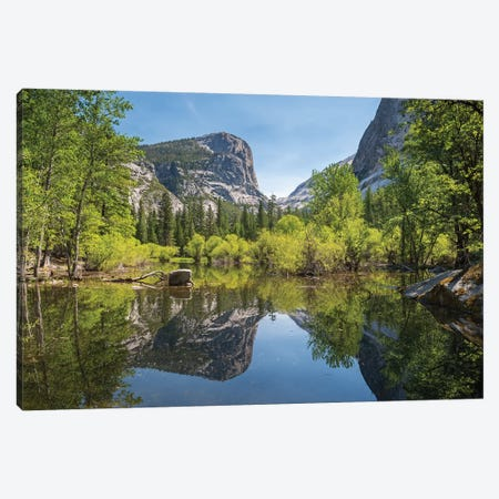 Mirror Lake Reflections, Yosemite Canvas Print #ABU131} by Adam Burton Canvas Art Print