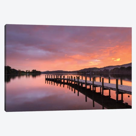 Sunset Jetty Canvas Print #ABU132} by Adam Burton Canvas Print