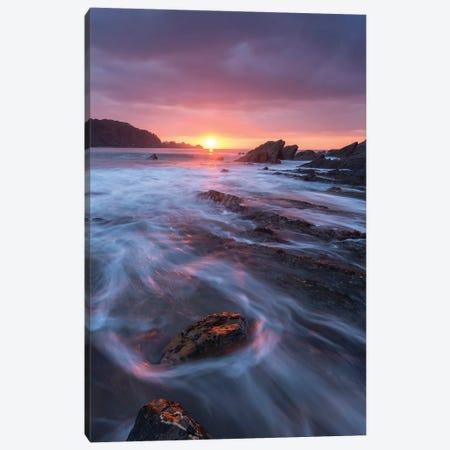 Sunset Seascape Canvas Print #ABU133} by Adam Burton Canvas Art Print