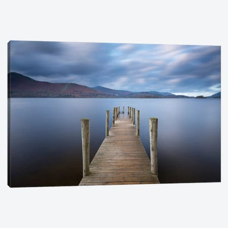 Derwentwater Jetty Canvas Print #ABU13} by Adam Burton Canvas Artwork