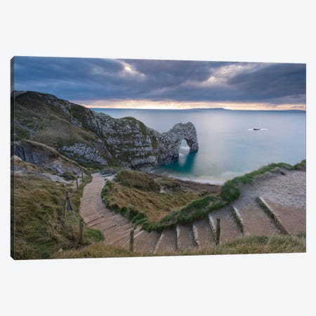 Durdle Door Canvas Print #ABU14} by Adam Burton Canvas Art Print