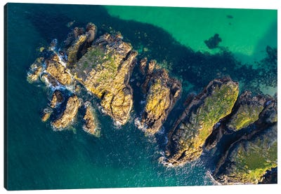 Cornwall From Above Canvas Art Print