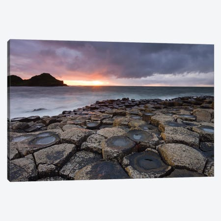 Giant's Causeway Canvas Print #ABU19} by Adam Burton Canvas Art