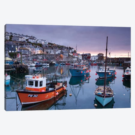 Mevagissey Moods Canvas Print #ABU29} by Adam Burton Canvas Art Print