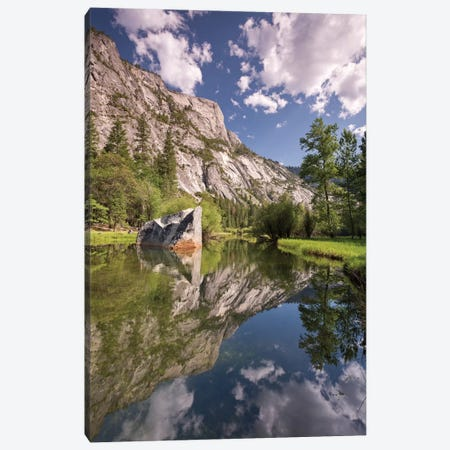 Mirror Lake Canvas Print #ABU30} by Adam Burton Canvas Wall Art