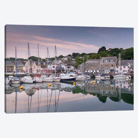 Padstow Harbour Canvas Print #ABU33} by Adam Burton Canvas Wall Art
