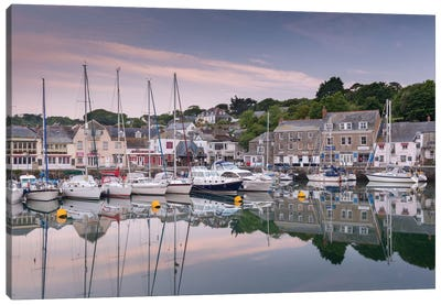 Padstow Harbour Canvas Print #ABU33