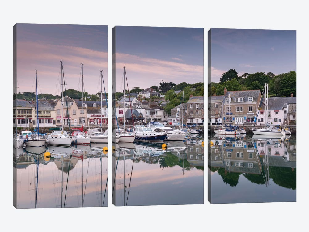 Padstow Harbour by Adam Burton 3-piece Canvas Print