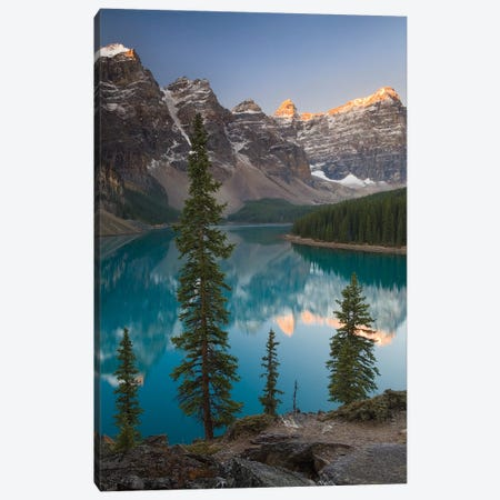 Sentries of Moraine Lake Canvas Print #ABU39} by Adam Burton Canvas Wall Art