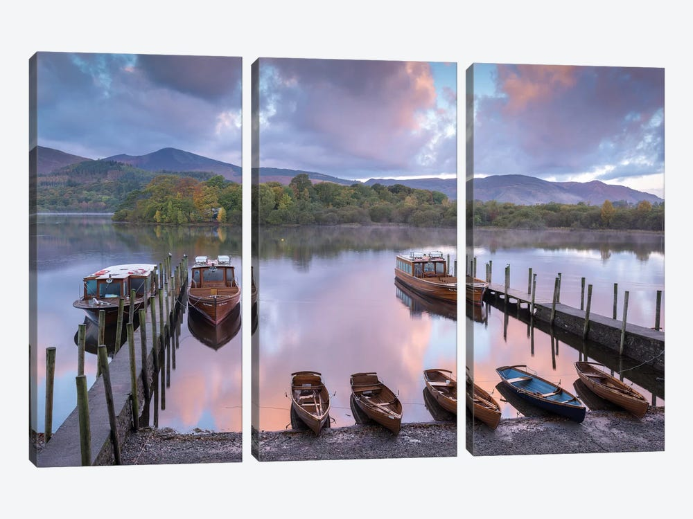 All The Boats by Adam Burton 3-piece Canvas Print