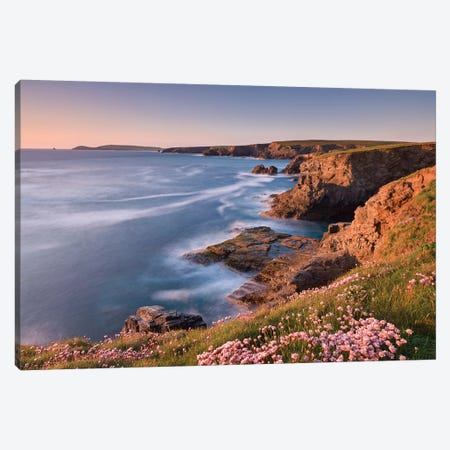Towards Trevose Head Canvas Print #ABU53} by Adam Burton Canvas Art