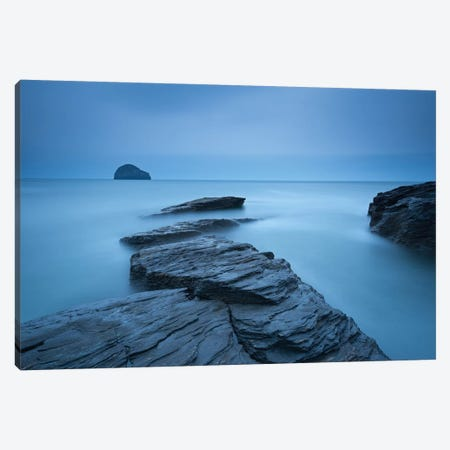 Trebarwith Blues Canvas Print #ABU55} by Adam Burton Canvas Art Print