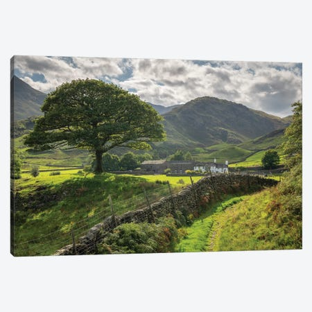 Approaching The Shire Canvas Print #ABU65} by Adam Burton Canvas Art