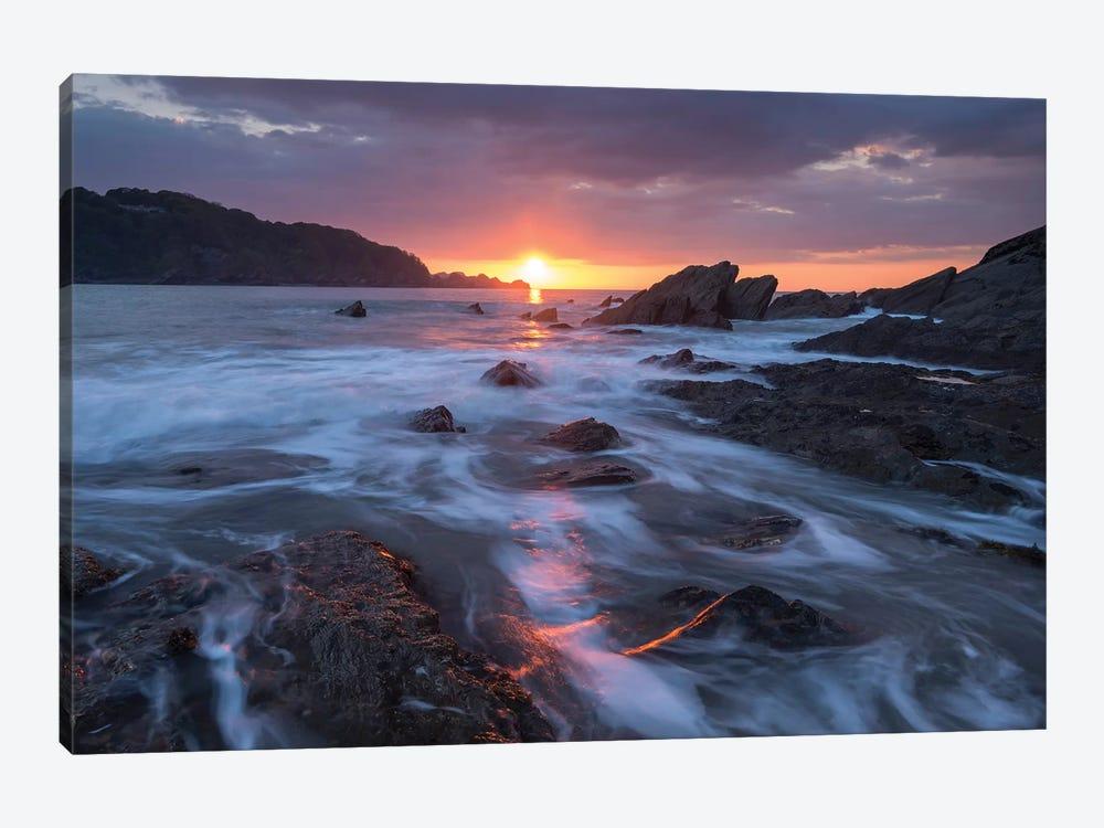 Atlantic Sunset by Adam Burton 1-piece Canvas Art Print