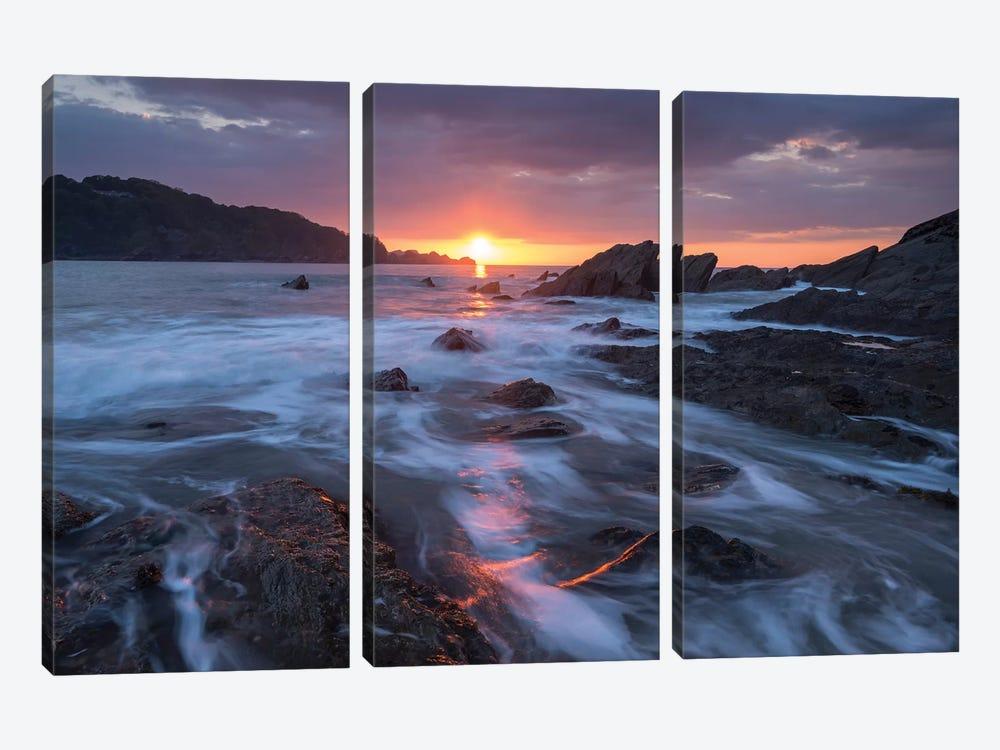 Atlantic Sunset by Adam Burton 3-piece Canvas Print