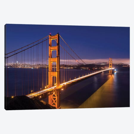 Golden Gate Bridge Canvas Print #ABU79} by Adam Burton Canvas Artwork