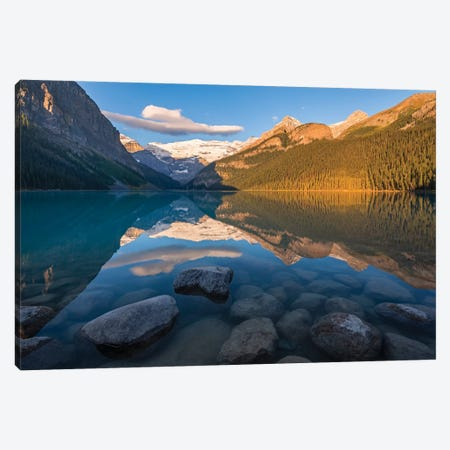 Lake Louise Reflections Canvas Print #ABU83} by Adam Burton Canvas Print