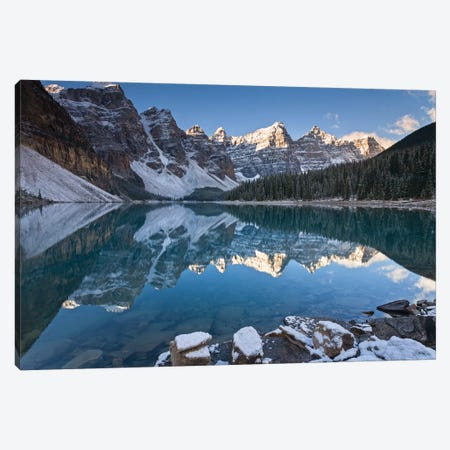 Moraine Lake Reflections Canvas Print #ABU88} by Adam Burton Art Print