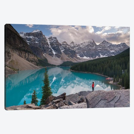 Moraine Lake Solitude Canvas Print #ABU89} by Adam Burton Art Print