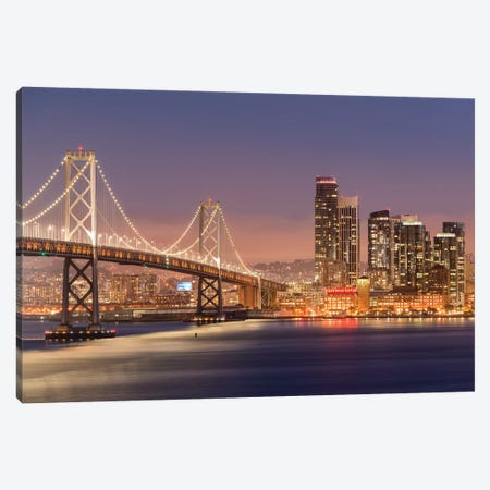 Oakland Bay Bridge Canvas Print #ABU91} by Adam Burton Canvas Wall Art