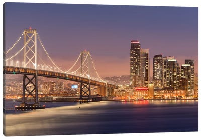 Oakland Bay Bridge Canvas Art Print