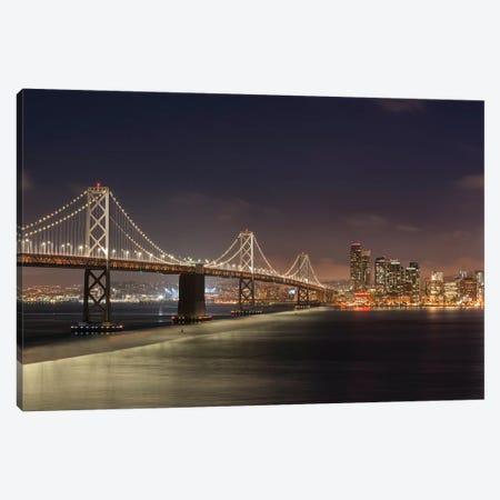 Oakland Bay Bridge II Canvas Print #ABU92} by Adam Burton Canvas Art