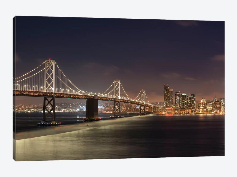 Oakland Bay Bridge II by Adam Burton 1-piece Canvas Art