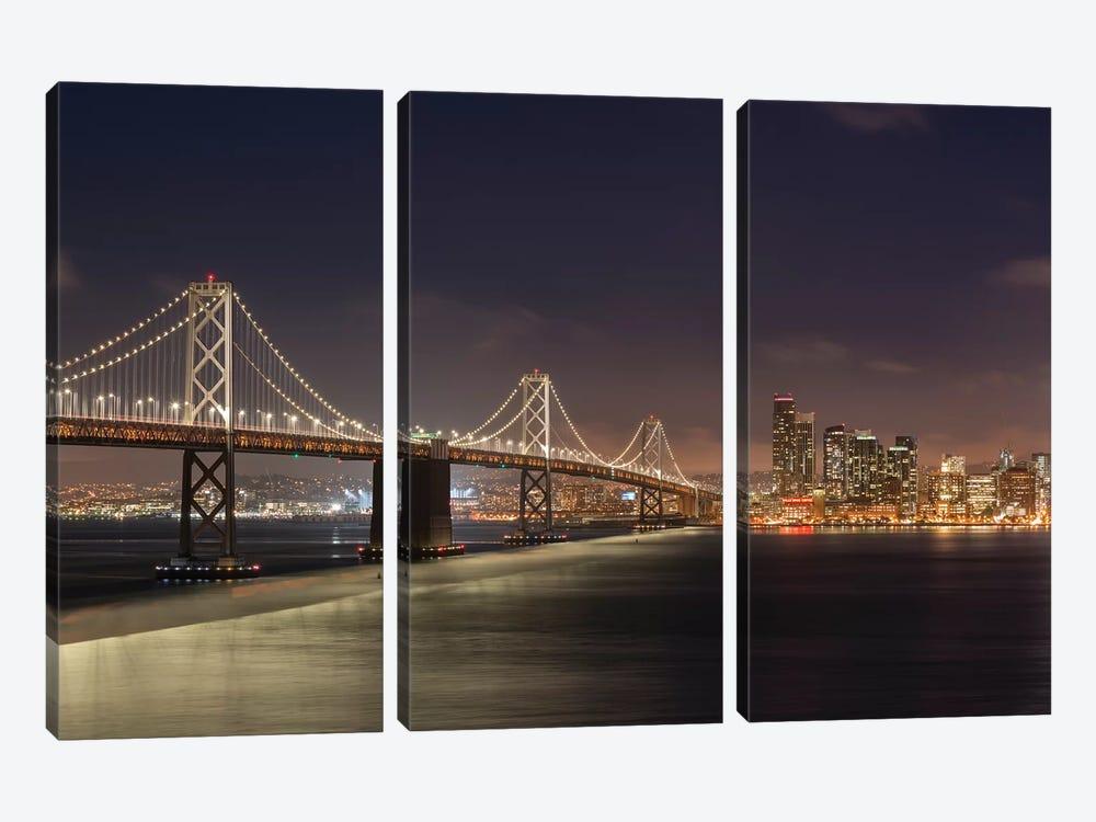 Oakland Bay Bridge II by Adam Burton 3-piece Canvas Artwork