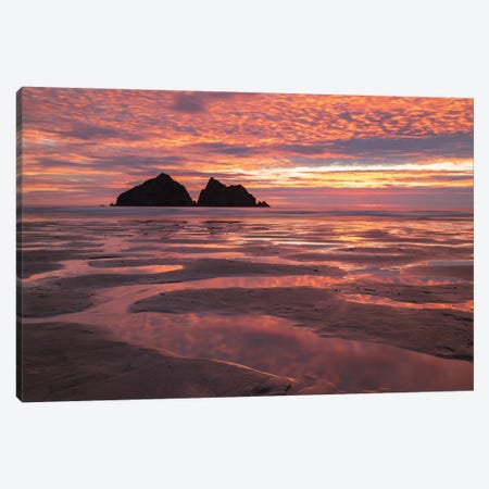 Poldark Sunset Canvas Print #ABU98} by Adam Burton Canvas Wall Art