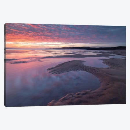 Prembrokeshire Sunset Canvas Print #ABU99} by Adam Burton Canvas Art