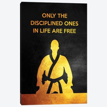 Discipline Is Freedom Canvas Print #ABV1027} by Adrian Baldovino Canvas Wall Art