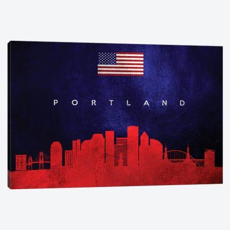 Portland Oregon Skyline Canvas Print #ABV102} by Adrian Baldovino Canvas Art
